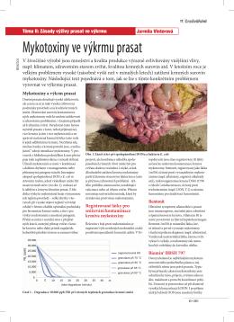 Mykotoxiny ve výkrmu prasat