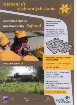 Záchranná stanice pro dravé ptáky Rajhrad tel.: 606