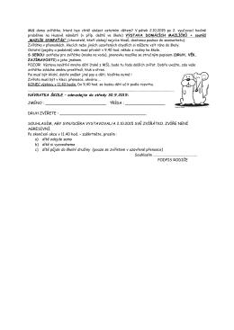 NÁVRATKA ŠKOLE – odevzdejte do středy 30.9.2015: JMÉNO
