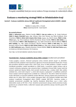 Zápis - evaluace mediálního obrazu MAS Kokorin