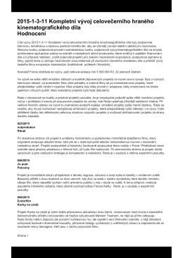 Hodnoceni vyvoj text - Státní fond kinematografie