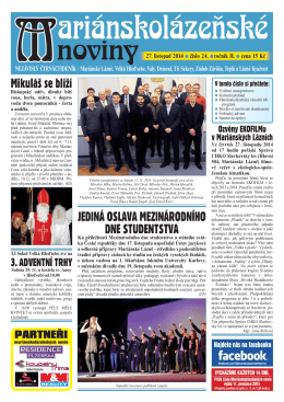 27. listopad 2014 - Marianskelazne.TV