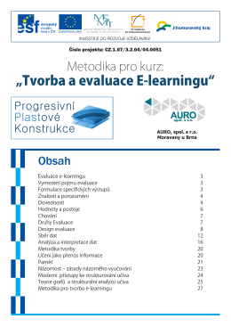 Metodika - Tvorba a evaluace