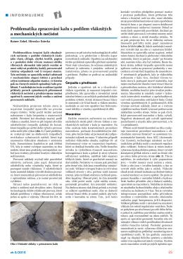 Problematika zpracování kalu s podílem vláknitých a mechanických