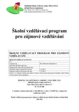 Stáhnout - Základní škola, Liberec, nám. Miru 212/2