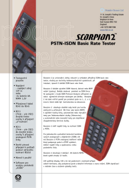 Scorpion 2 PSTN/ISDN Basic Rate tester
