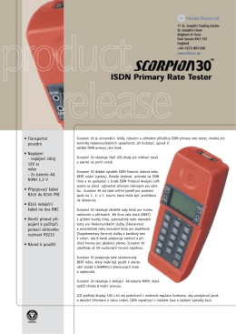 Scorpion 30 ISDN Primary Rate tester