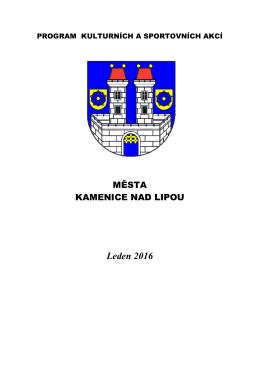 leden 2016 - Kultura Kamenice nad Lipou