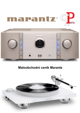 Maloobchodní ceník Marantz