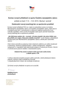 Komise rovných příležitostí ve sportu Českého olympijského výboru