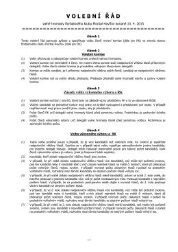 Návrh volebního řádu - Florbal Torpedo Havířov