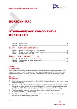 Standardizace komoditních kontraktů