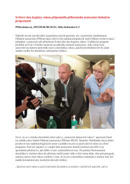 Světový den hygieny rukou připomněla příbramská nemocnice