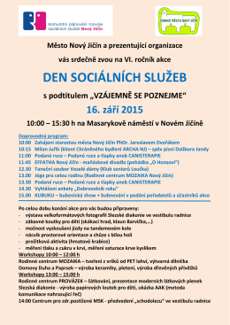 DEN SOCIÁLNÍCH SLUŽEB - Centrum pro zdravotně postižené