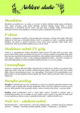 Manikúra P-shine Modelace nehtů ÚV gely Camouflage Parafín