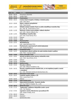 09:30 Prezentace účastníků 09:30