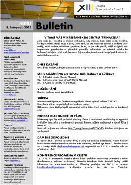Bulletin 8.11.2015