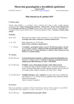 2. pololetí 2015 - Moravská genealogická a heraldická společnost