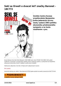 Sekl se Orwell o dvacet let? značky Baronet - 18C772