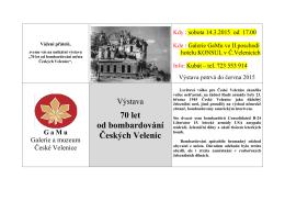 70 let od bombardování Českých Velenic