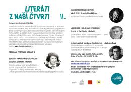 PROGRAM FESTIVALU V PRAZE 6 - Památník národního písemnictví
