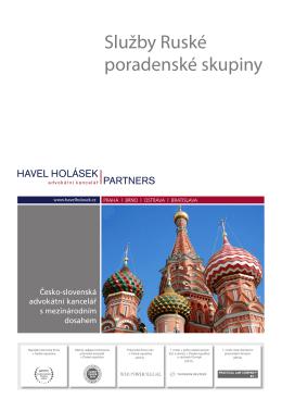 Služby Ruské poradenské skupiny - Komora pro hospodářské styky