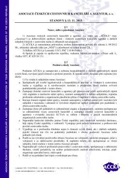 ke stažení zde - Asociace českých cestovních kanceláří a agentur