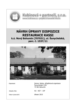 Zpráva ke studii - Kassi - Domov Jistoty, příspěvková organizace