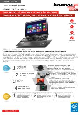 konvertibilní notebook s vysokým výkonem. všestranný notebook