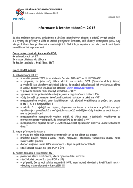 Informace k LT 2015