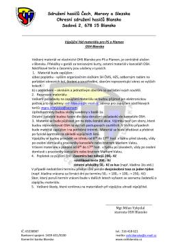Výpůjční řád - OSH Blansko