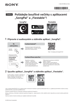 """Pořádejte bouřlivé večírky s aplikacemi """"SongPal"""" a"""