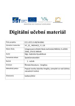 vy_32_inovace_f.1.18 - Integrovaná střední škola technická, Mělník