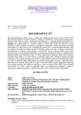 ROZHODNUTÍ - Obec HOVORANY