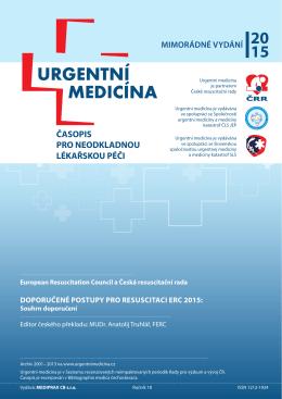 Náhled a obsah mimořádného čísla časopisu Urgentní medicína