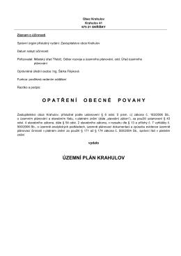 ÚP Krahulov text