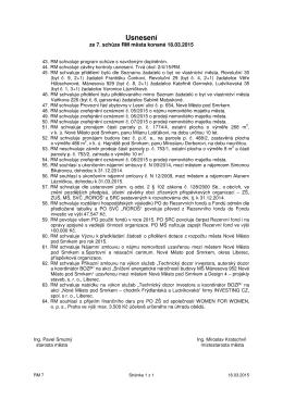 Usnesení Rady města č. 7