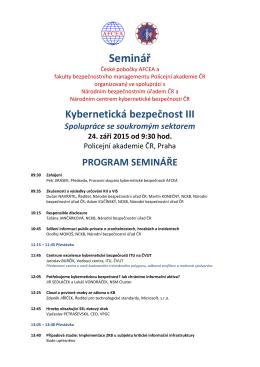 Seminář - CyberSecurity.cz