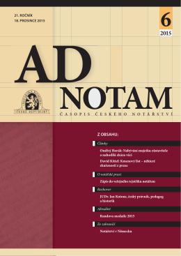 Stáhnout v PDF - Notářská komora České republiky