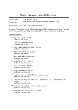 Zápis 8. ZM (23.6.2015)
