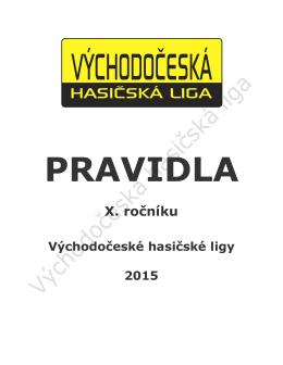 Oficiální pravidla VČHL pro rok 2015