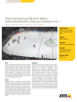 Čeští hokejisté na MS 2015 těžili z bezkonkurenčního videa pro