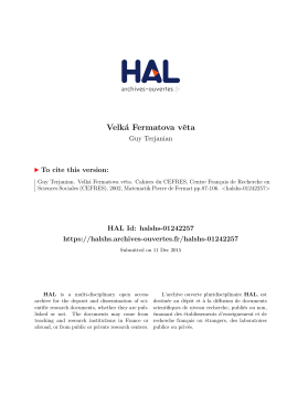 Velká Fermatova věta - Hal-SHS