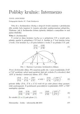 Polibky kružnic: Intermezzo - matematika–fyzika–informatika
