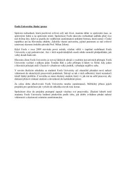 Fosfa Univerzita - nástroj firemního vzdělávání