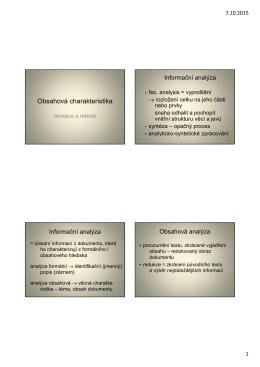 Obsahová charakteristika