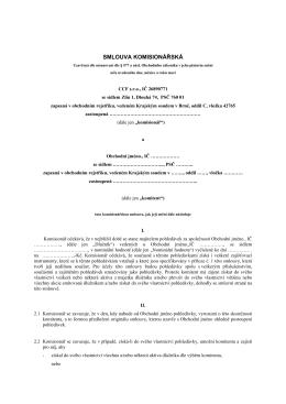 Komisionářská smlouva