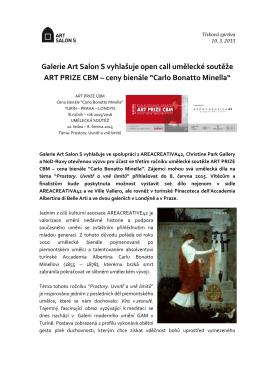 Galerie Art Salon S vyhlašuje open call umělecké soutěže ART