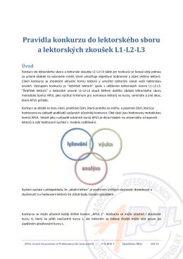 Pravidla konkurzu do lektorského sboru a lektorských zkoušek L1