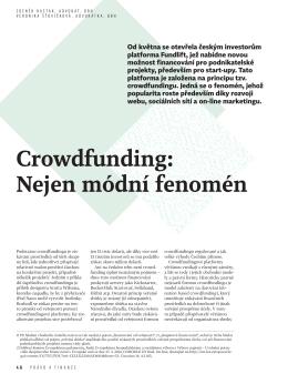 Crowdfunding: Nejen módní fenomén